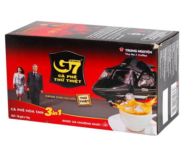 Cà phê sữa hòa tan 3 in 1 G7 (18 gói)