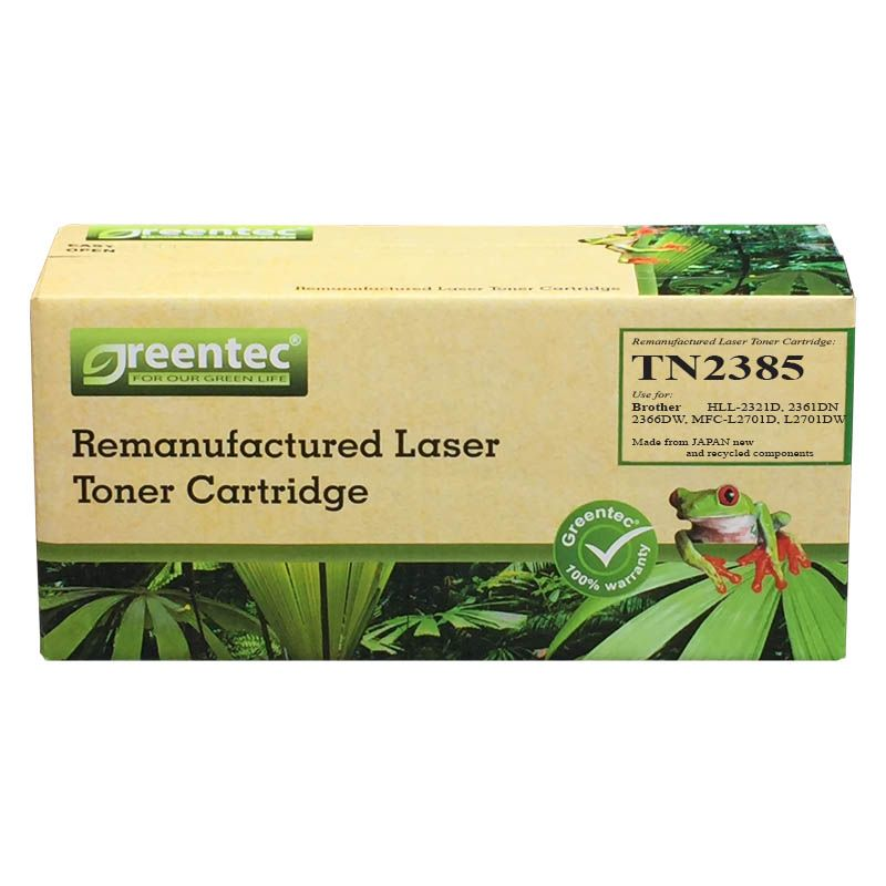 Mực in laser đen trắng Greentec Brother TN2385