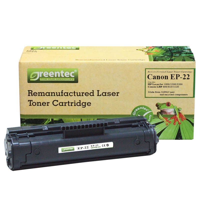 Mực in laser đen trắng Greentec Canon EP-22