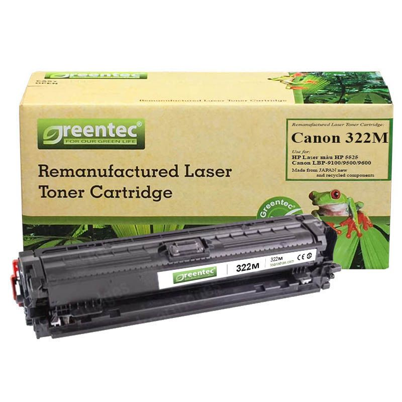 Mực in laser màu Greentec Canon 322M